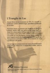 L'Evangile de Luc - 4ème de couverture - Format classique
