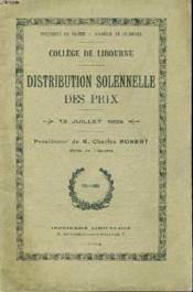 Distribution Solennelle Des Prix 13 Juillet 1924 Presidee Par M. Charles Robert - Couverture - Format classique