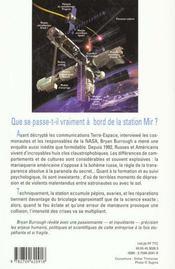 Crise A Bord De La Station Mir - 4ème de couverture - Format classique