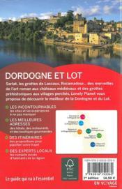 Dordogne et Lot (édition 2016) - 4ème de couverture - Format classique