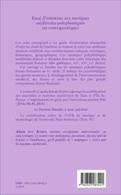 Essai d'initiation aux musiques medievales polyphoniques ou contrapuntiques -