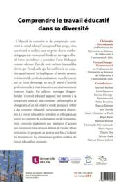 Comprendre le travail éducatif dans sa diversité - 4ème de couverture - Format classique