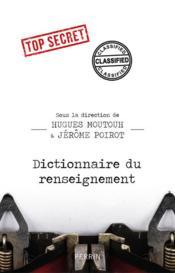 Dictionnaire du renseignement - Couverture - Format classique