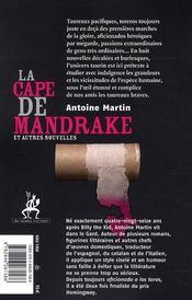 La cape de Mandrake et autre nouvelles - 4ème de couverture - Format classique