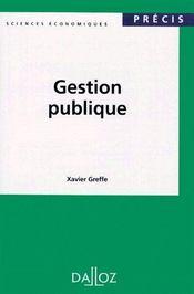 Gestion publique - Couverture - Format classique