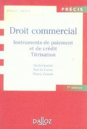 Droit commercial ; instruments de paiment et de crédit ; titrisation - Intérieur - Format classique