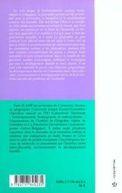 Geographie Du Developpement Durable ; Plaidoyer - 4ème de couverture - Format classique