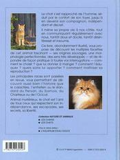 Les chats ; races ; hygiene ; comportement - 4ème de couverture - Format classique