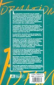 Polyarthrite rhumatoide de l'adulte. conception actuelle - 4ème de couverture - Format classique