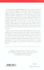 Les Confesssions D'Un Mangeur D'Opium - 4ème de couverture - Format classique