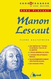 Manon Lescaut, de l'abbé Prévost - Couverture - Format classique