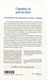 L'Aqueduc Du Pont Du Gard - 4ème de couverture - Format classique