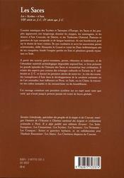 Les saces ; les nomades blancs d'asie - 4ème de couverture - Format classique