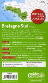 Bretagne sud (Nantes, Vannes, Quimper) (édition 2011) - 4ème de couverture - Format classique