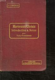 Morceaux Choisis. Cinquieme Edition. - Couverture - Format classique
