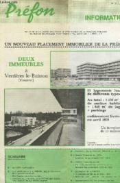 Prefon, Informations, N° 15, Juin 1079 - Couverture - Format classique