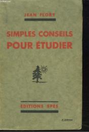 Simples Conseils Pour Etudier - Couverture - Format classique
