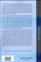Le contentieux des actes administratifs non décisoires - 4ème de couverture - Format classique