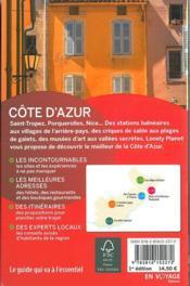 Côte d'Azur - 4ème de couverture - Format classique