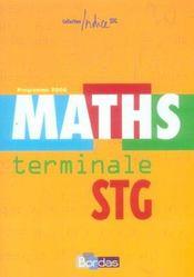 INDICE MATHS ; terminale STG ; enseignement obligatoire - Intérieur - Format classique