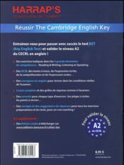 Pass the ket certificate fin niveau A2 - 4ème de couverture - Format classique