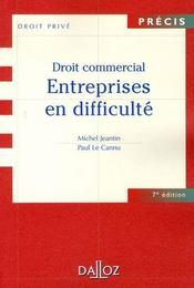 Droit commercial ; entreprises en difficulté - Intérieur - Format classique