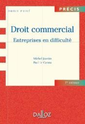 Droit commercial ; entreprises en difficulté - Couverture - Format classique