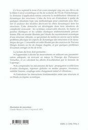 Introduction A La Dynamique Des Structures - 4ème de couverture - Format classique