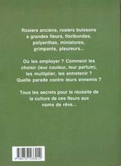 Les rosiers - 4ème de couverture - Format classique