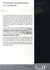 Pathologie ganglionnaire non tumorale - 4ème de couverture - Format classique