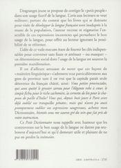 Petit dictionnaire du peuple a l'usage des 4/5e de la f - 4ème de couverture - Format classique