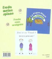 Trois histoires de récréation ; drei Freizeitgeschichten ; 6/9 ans - 4ème de couverture - Format classique