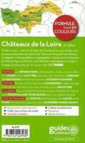 GEOGUIDE ; châteaux de la Loire (édition 2011) - 4ème de couverture - Format classique