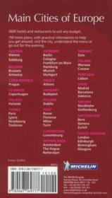 Main cities of Europe ; restaurants & hotels (édition 2012) - 4ème de couverture - Format classique