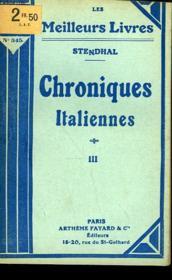 Chroniques Italiennes - Tome 3 - Couverture - Format classique
