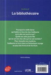 La bibliothécaire - 4ème de couverture - Format classique