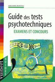 Guides Des Tests Psychotechniques - Intérieur - Format classique