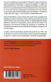 Au risque de la topologie et de la poésie - 4ème de couverture - Format classique