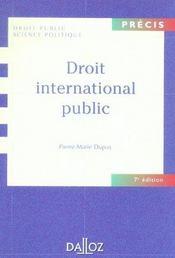 Droit international public - Intérieur - Format classique