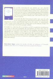 Droit international public - 4ème de couverture - Format classique