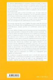 Algebre Fondamentale ; Arithmetique ; Niveau L3 Et M1 - 4ème de couverture - Format classique