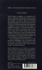 Coup de froid - 4ème de couverture - Format classique