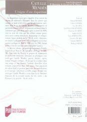 REVUE LA LICORNE N.7 ; Catulle Mendès: l'énigme d'une disparition - 4ème de couverture - Format classique