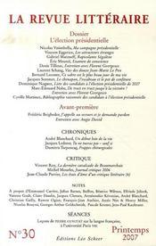La revue litteraire n 30 mars 2007 - Intérieur - Format classique