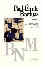 Écrits t.1 - Couverture - Format classique