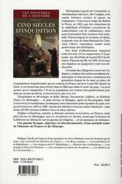 Cinq siècles d'inquisition ; le bilan - 4ème de couverture - Format classique