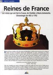 Petit Guide T.179 ; Reines De France - Intérieur - Format classique