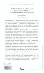 Quatre Exercices De Pensee Juive Pour Cerveaux Reflechis - 4ème de couverture - Format classique