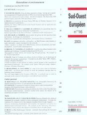 Pastoralisme et environnement revue sud ouest europeen n16 - 4ème de couverture - Format classique