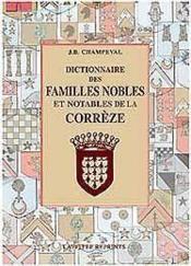 Dictionnaire Familles Correze - Couverture - Format classique
